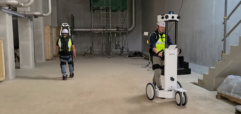 Workers in wearable robots designed to increase strength